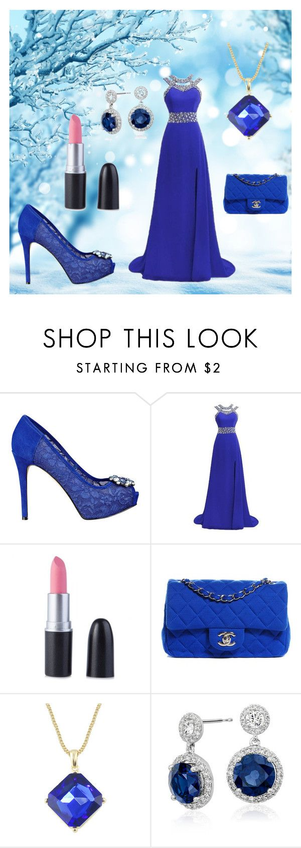 """Blue Color!!"" by mysticsjy on Polyvore featuring GUESS, Chanel and Blue Nile"