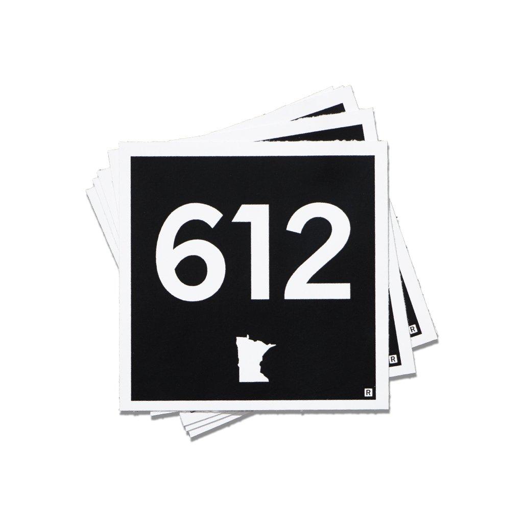 612 Minnesota Area Code Logo 2 5 Quot X 2 5 Quot Vinyl Sticker