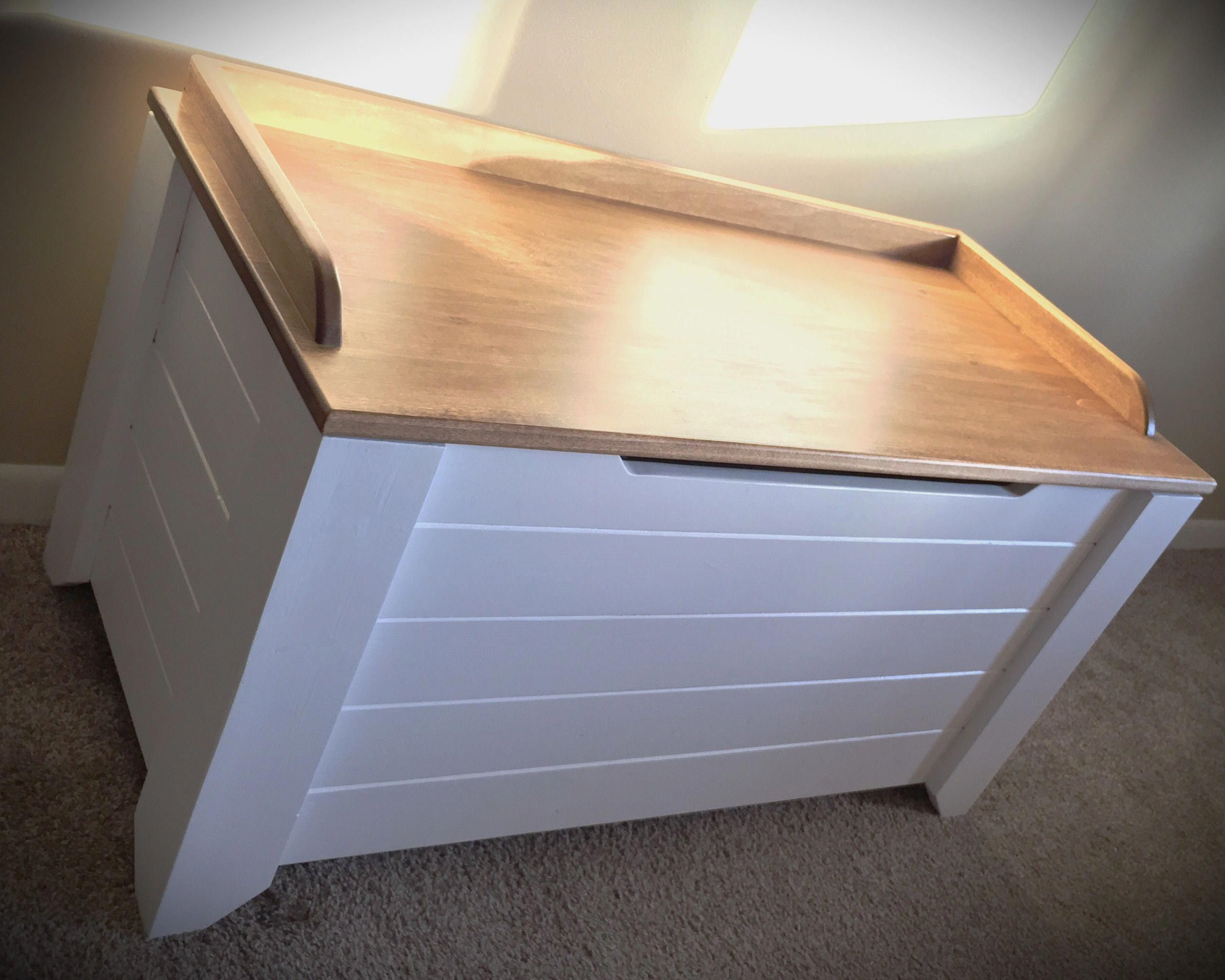 Farmhouse style toy box blanket chest diy projects