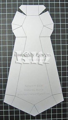 Caja con forma de corbata. Tutorial con plantilla.   Moldes de ...