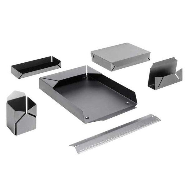 Alexis Georgacopoulos Praxis Postino Desk Accessories Sheet Metal Fabrication Metal Sheet Design Metal Furniture