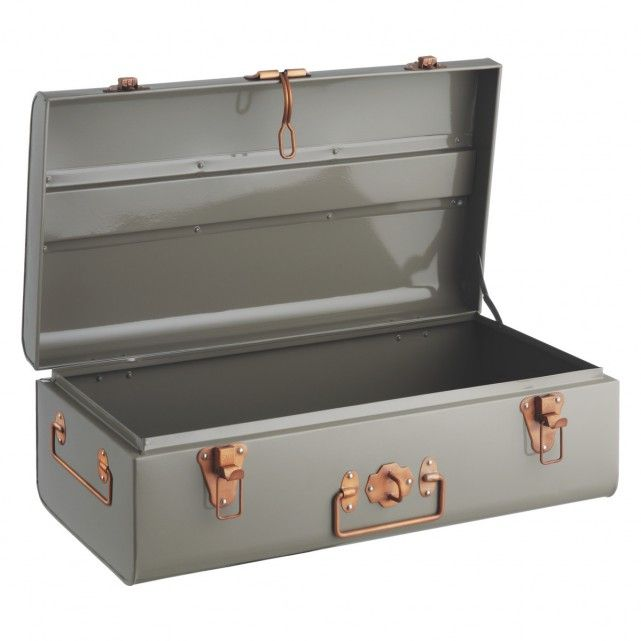 TRUNK Grey Metal #storage Trunk | Buy Now At Habitat UK