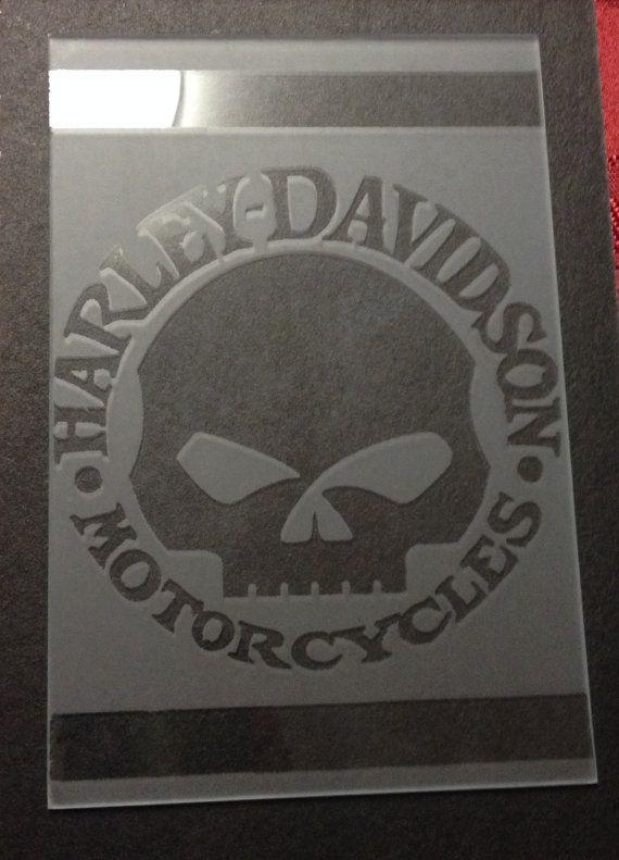 Harley Davidson Skull on Etsy, $20.00