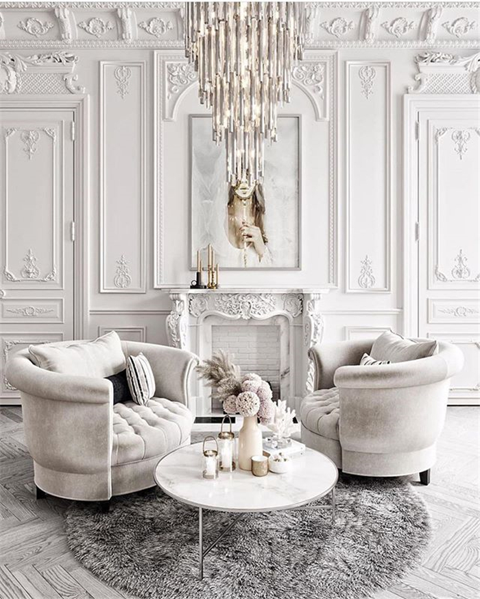 40 Inspiring Wall Design Ideas For Living Room Page 29 Of 40 Aray Blog For Chic Women In 2020 Living Room Decor Home Decor Classic Interior