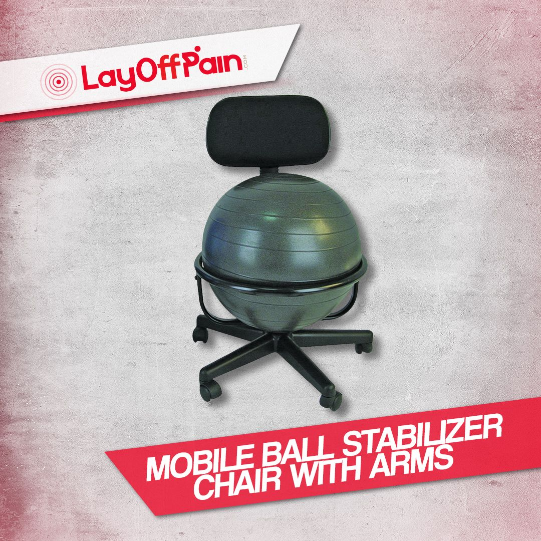Sitting on a balance ball chair forces you to sit properly