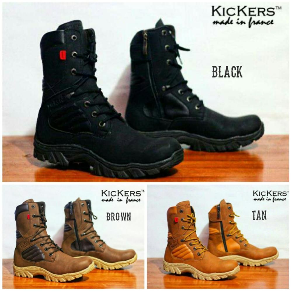 Sepatu Kickers Boots Safety Delta Tinggi Sepatu Touring Motor Sepatu Kerja  Keren Pria 1b3ab07046