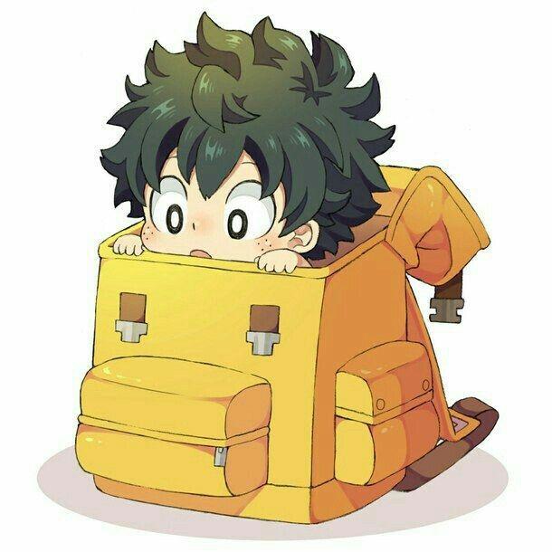 Midoriya Deku Izuku Cute Chibi Bookbag My Hero Academia Chibi Wallpaper Anime Chibi My Hero Academia Episodes