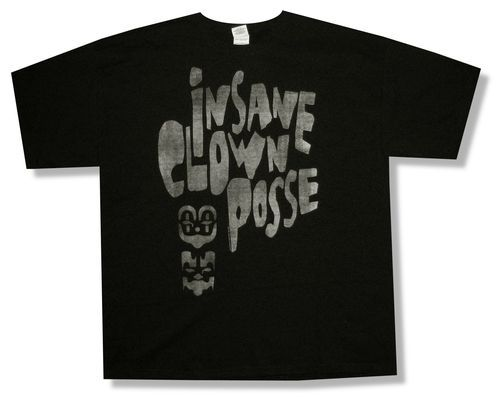 "INSANE CLOWN POSSE ICP ""MASKS"" BLACK T-SHIRT NEW ADULT OFFICIAL X-LARGE XL"
