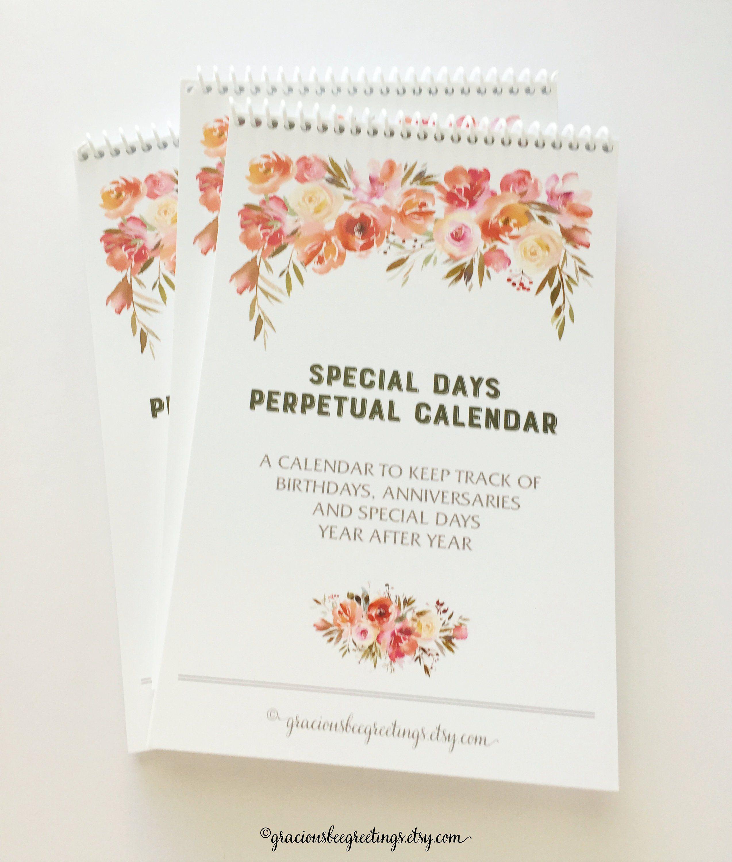 Perpetual Calendar Perpetual Planner Perpetual Birthday