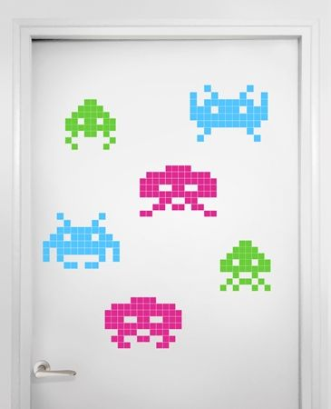 Stickaz - Space invaders color