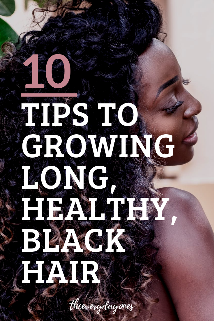 growing your hair this spring is never easier with these tips and tricks to growing long, healthy, 3a, 3b, 3c, 4a, 4b, 4c hair! | #naturalhair #blackhair #naturalista #3ahair #3bhair #3chair #4ahair #4bhair #4chair #sheamoisture #mielleorganics