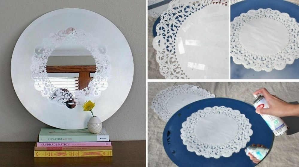 руководство том, декорируем старое зеркало без рамки удобное