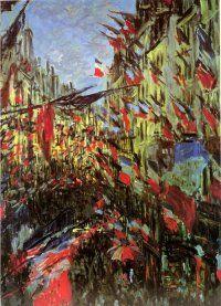 Rue Montorgueil - Claude Monet