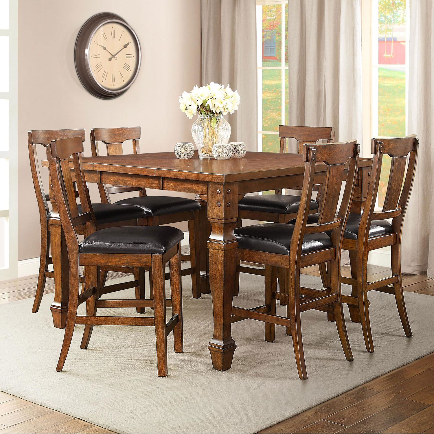 Parker Counter Height Dining Set 7 Pc