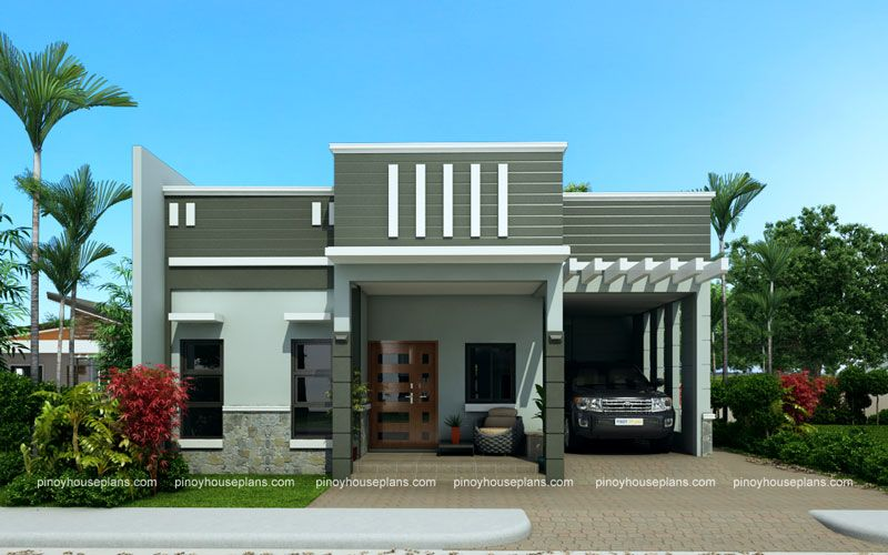 Edwardo model is a one story dream house plan with parapet for Parapet roof design pictures