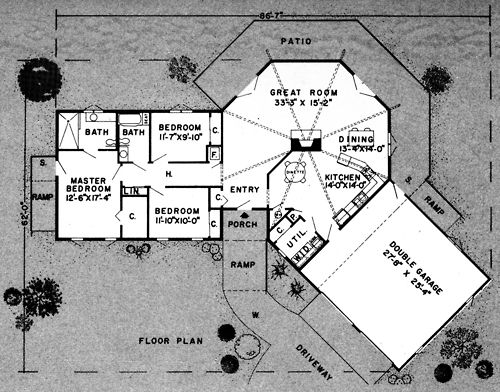 Single Level Underground Home Plans Plan No 10360 Architecture Drawing Pinned By Www Modlar Com Earth Sheltered Homes Earth Sheltered Underground Homes