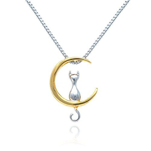 GOOD.designs®, sterling silver necklace with cat pendant for women, fashion cat necklace