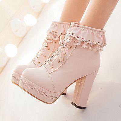 Japanese retro sweet buckles high heels from Cute Kawaii {harajuku fashion - Japanese retro swe