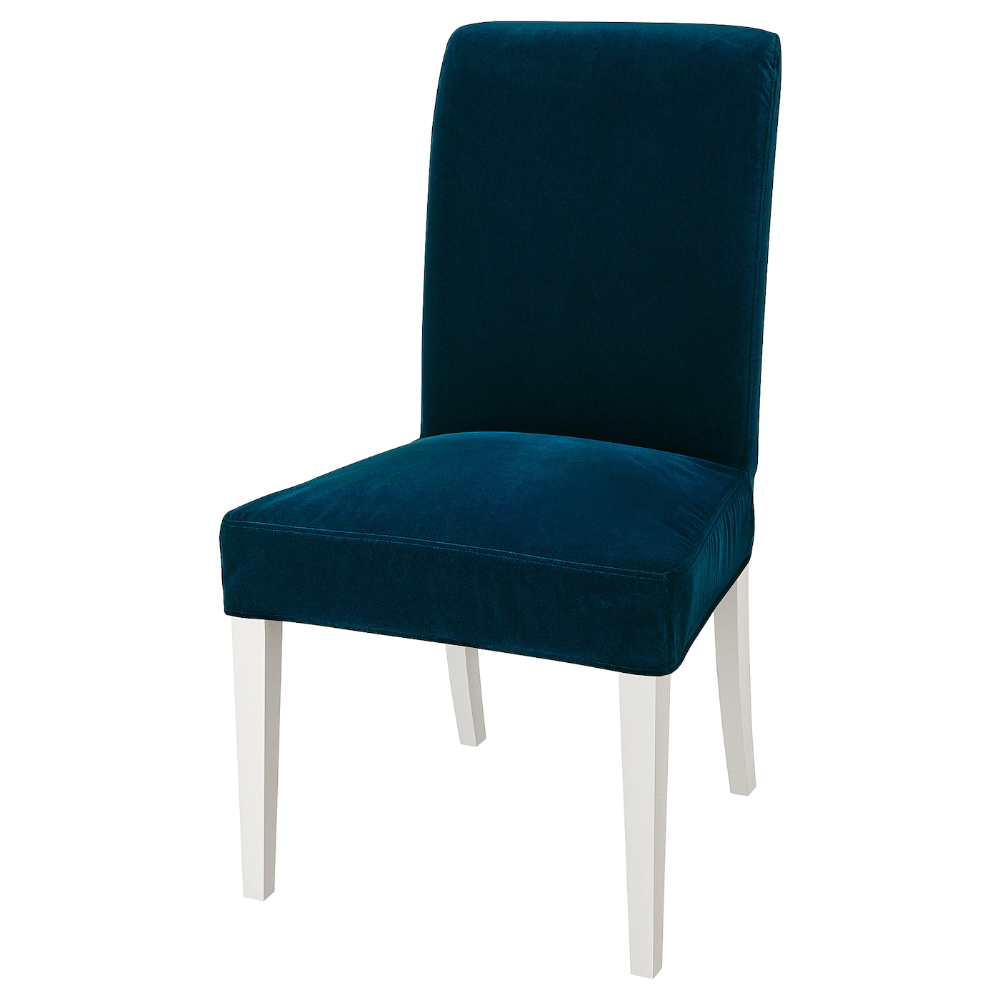 Henriksdal Chaise Blanc Djuparp Bleu Vert Fonce Ikea In 2020 Chair Ikea Buy Chair