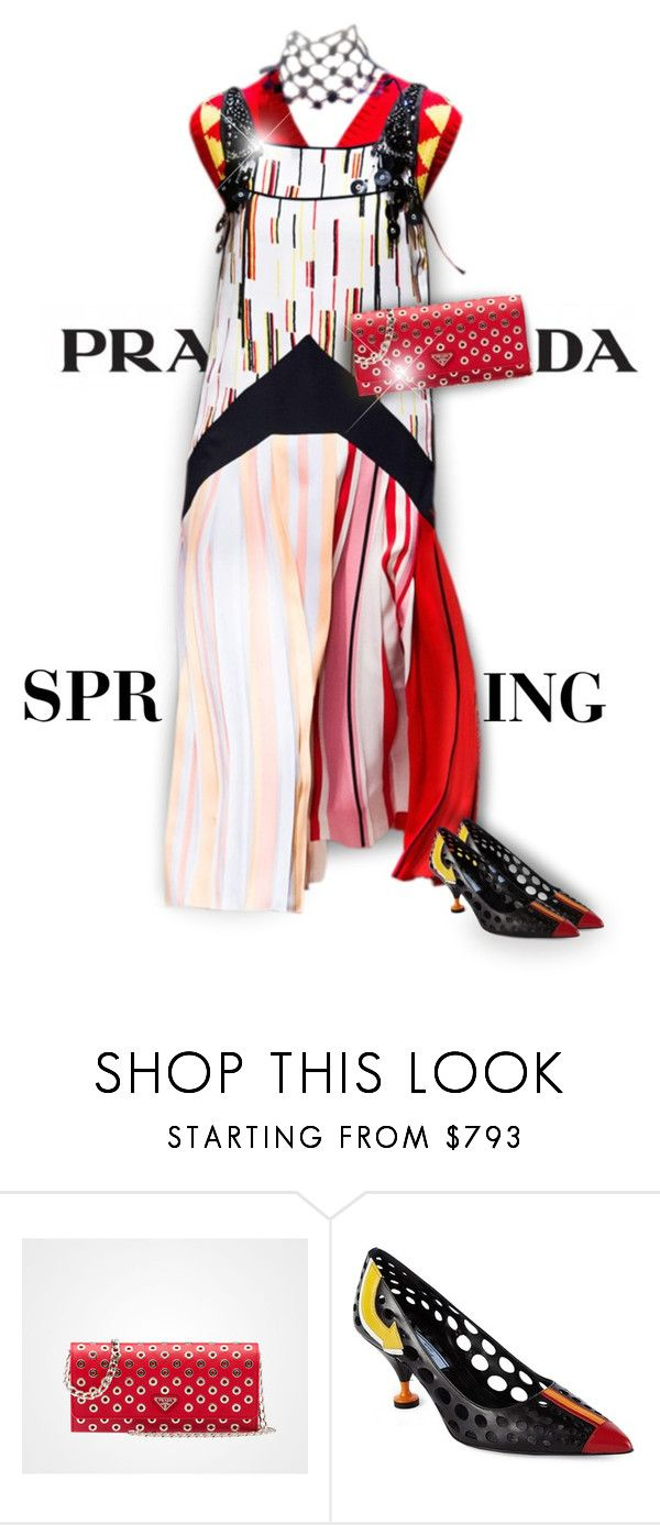 """2016 Prada Spring"" by passion-fashion-2 ❤ liked on Polyvore featuring Prada"