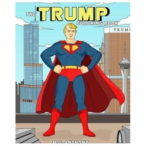 Donald Trump Books Coloring For Older Kids Grownups Political Cartoon President
