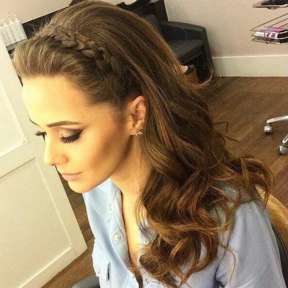 Peinado Trenza Cabello Suelto Peinados Pinterest Trenza - Peinados-con-trenzas-y-pelo-suelto