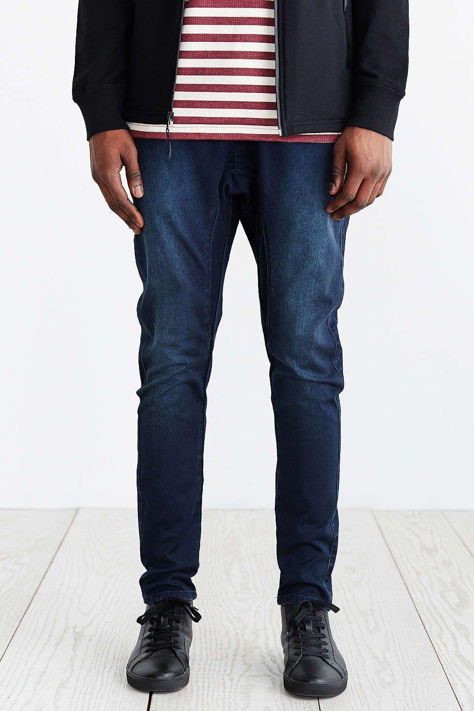 ZANEROBE Salerno Blue Black Elastic Waist Jean
