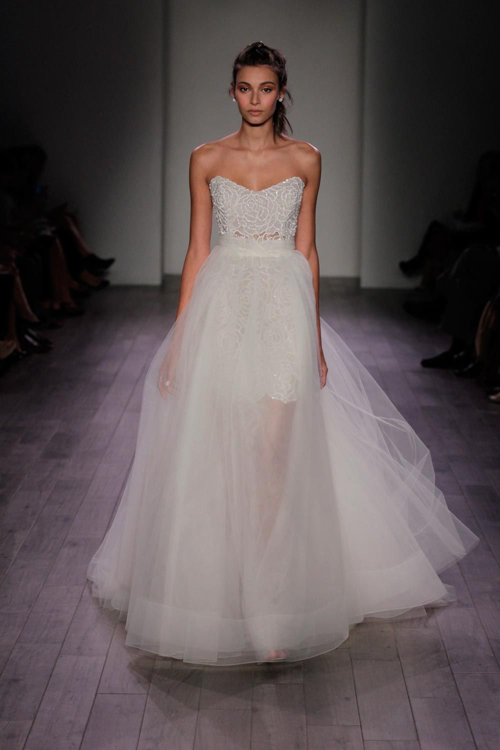 8613 by Jim Hjelm two in one wedding dress | The Look: TEA LENGTH ...