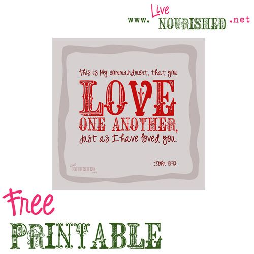Genius image intended for love one another printable
