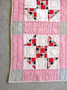 Vintage Antique Handmade Quilt Patchwork Shoo Fly Tennessee Quilt | eBay, imahick1939