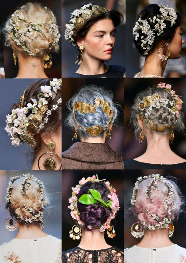 Image Result For Fall 2016 Makeup Trends Flowers In Hair Long Hair Styles Bridal Hair