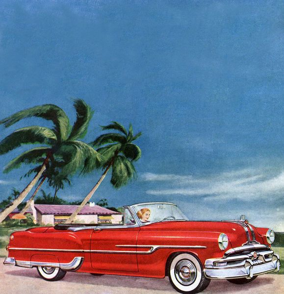Jigsaw Puzzle. 1953 Pontiac Convertible Date: 1953. 400 Piece Jigsaw Puzzle made to order in the UK