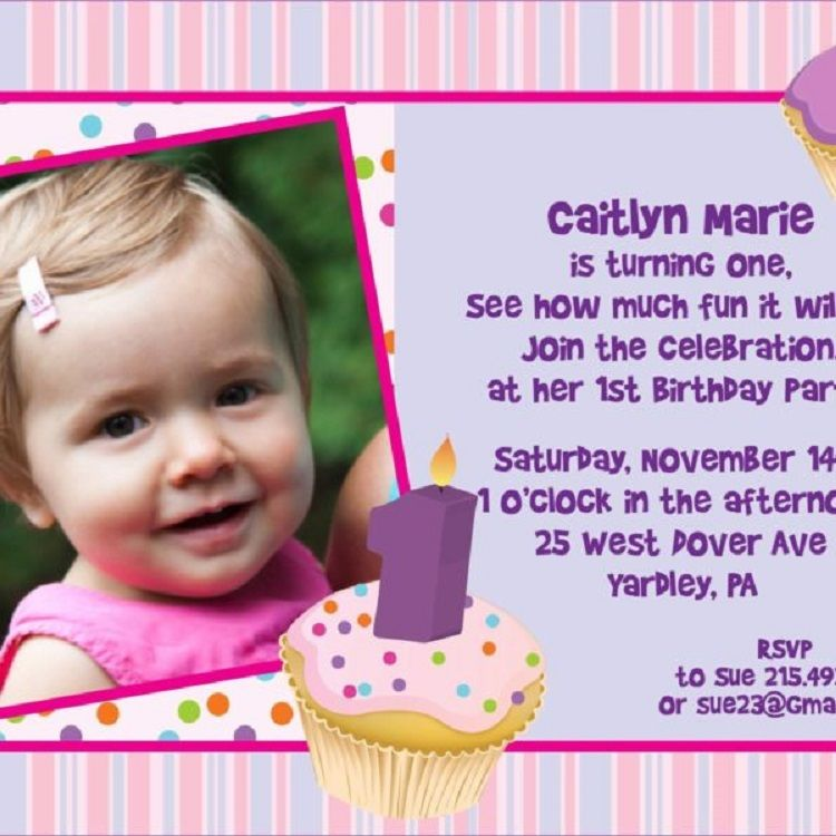 First Year Birthday Invitation Cards Free Download Check More At Cardpedia