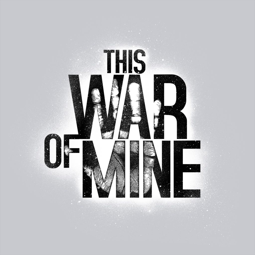 This War Of Mine Black Logo On White
