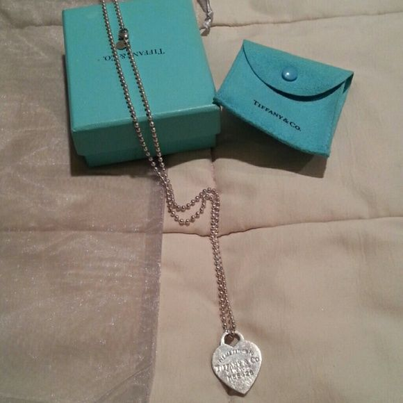 Tiffany Return to necklace Sterling silver heart tag necklace Tiffany & Co. Jewelry Necklaces