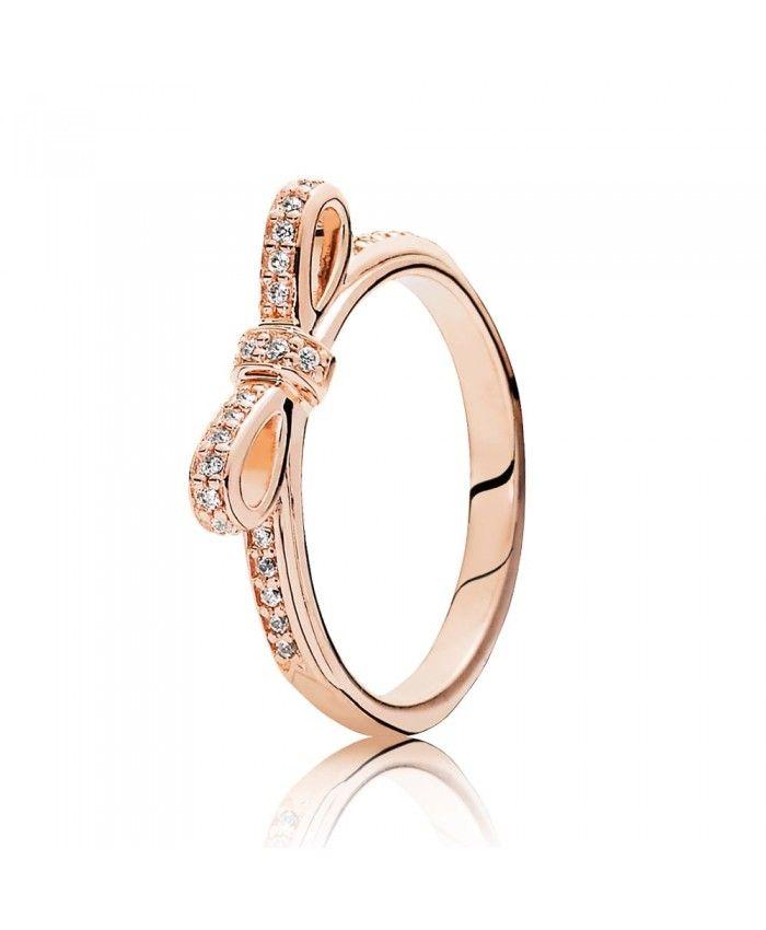 Pandora Rose Gold Delicate Bow Ring