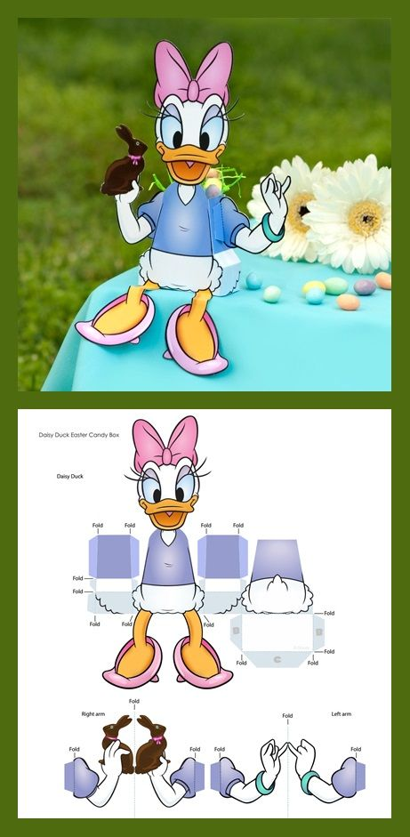 Daisy Duck Easter Candy Box