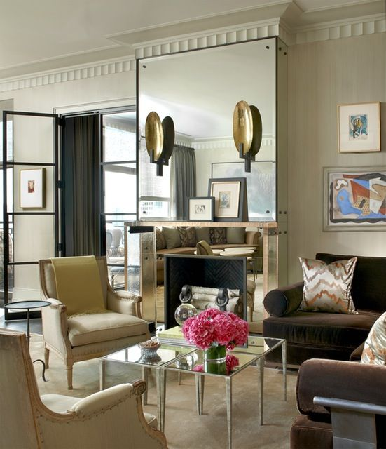 40 Creative Fireplace Designs Chairish Blog Small Living Rooms Living Room Designs Mirror Wall Living Room