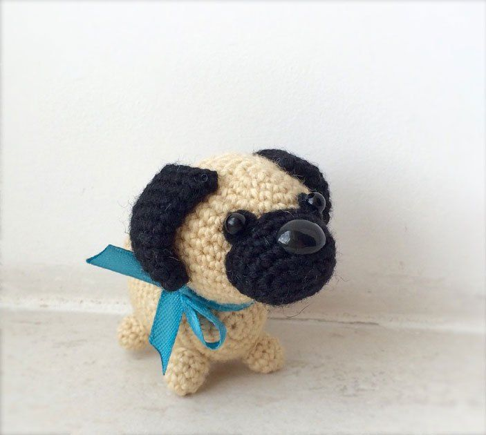 Baby Pug Dog amigurumi pattern | Amigurumi patterns, Crochet and Dog
