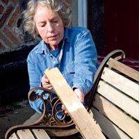 Astonishing Replacing Wooden Slats On Metal Garden Bench With Tutorial Beatyapartments Chair Design Images Beatyapartmentscom