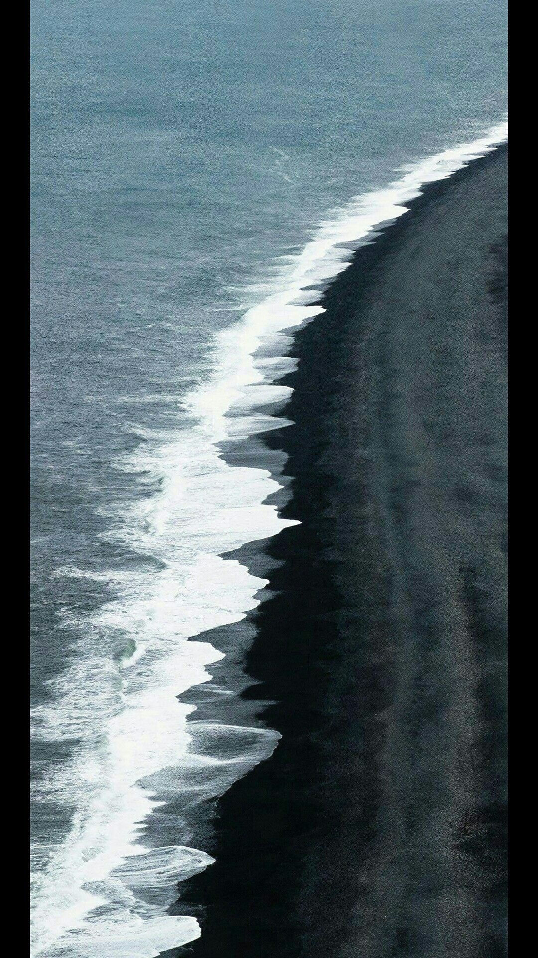 Wallpaper Black Sand Beach Iceland Ocean Photography Iceland Wallpaper
