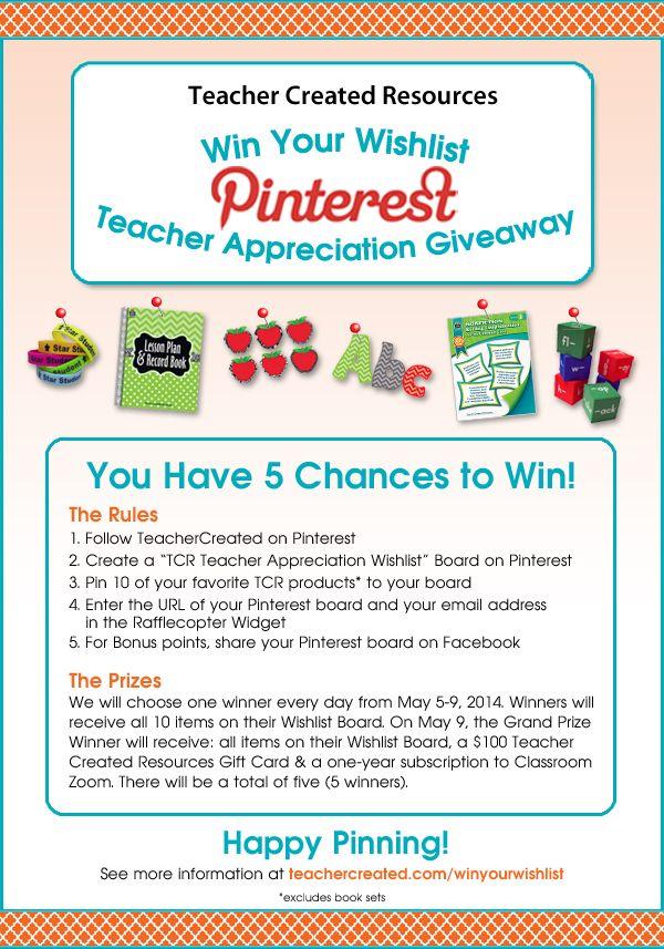 Win Your Wishlist Teacher Appreciation Giveaway! (Fern