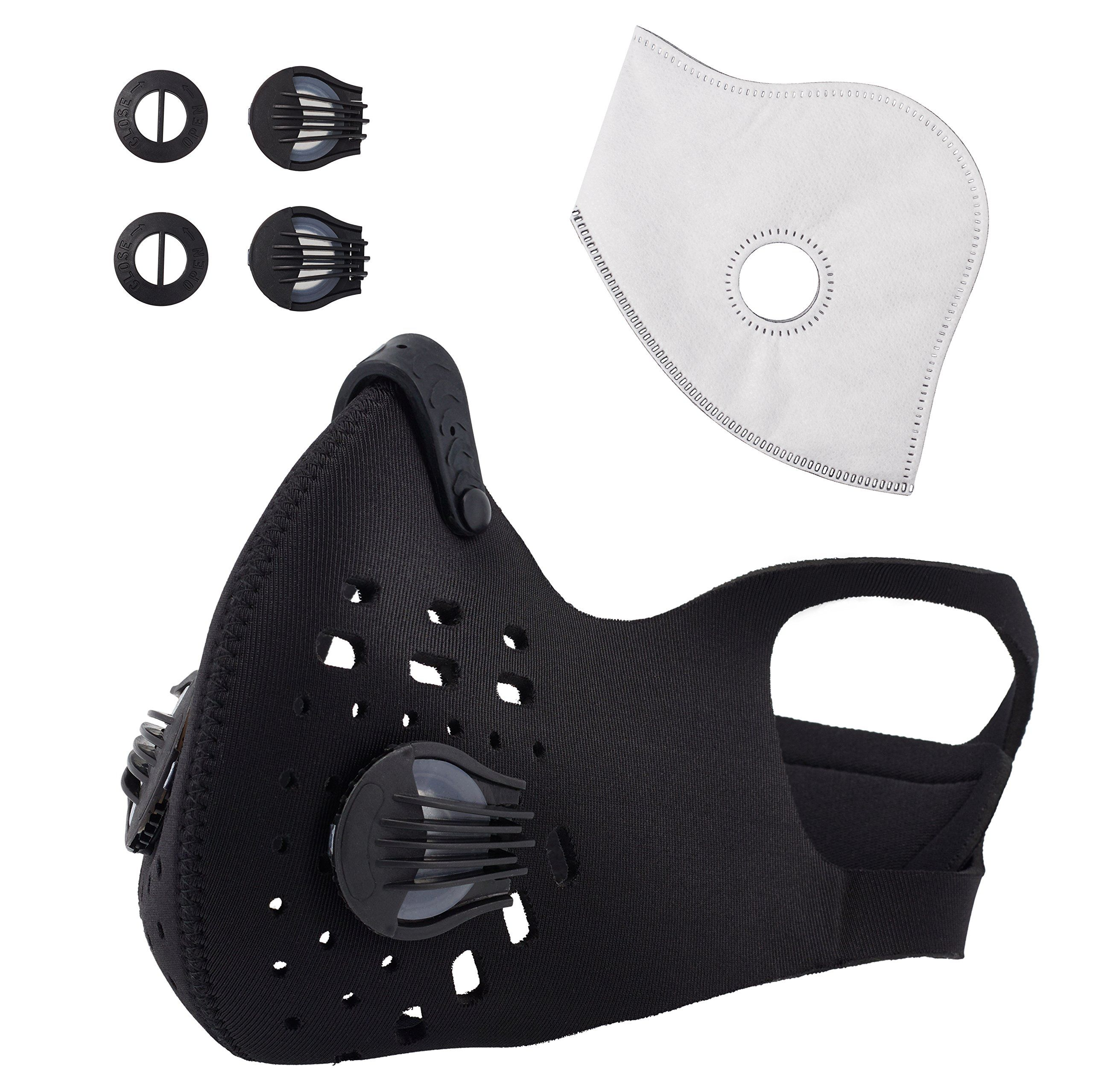 Envirovent 2 0v Antipollution Face Mask N99 Filter 2way Vents Activated Carbon Filtration Exhaust Fumes Anti Pollen And Al Diy Workout Face Mask Diy Face Mask