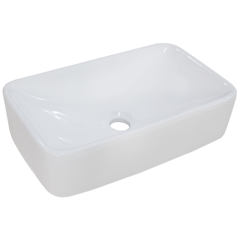 Mondella Rumba White Rectangular Vitreous China Basin ...