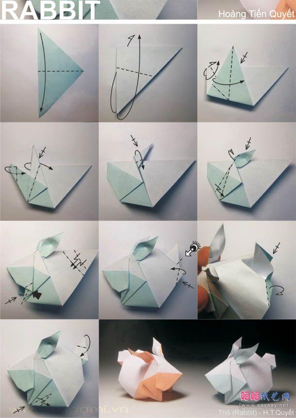 3d Origami Diagrams Rabbit Illustration Of Wiring Diagram