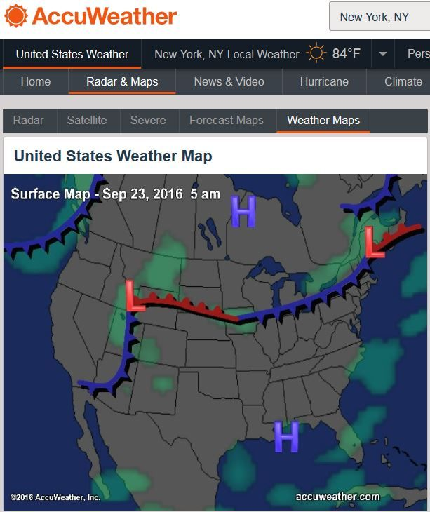 United States Jet Stream and Weather Surface Maps- AccuWeather.com ...