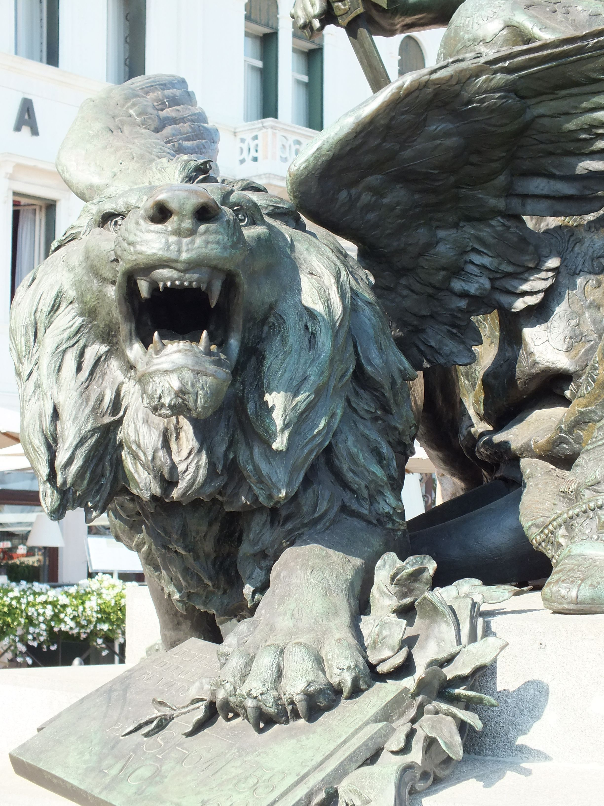 Winged lion tattoo - photo#39