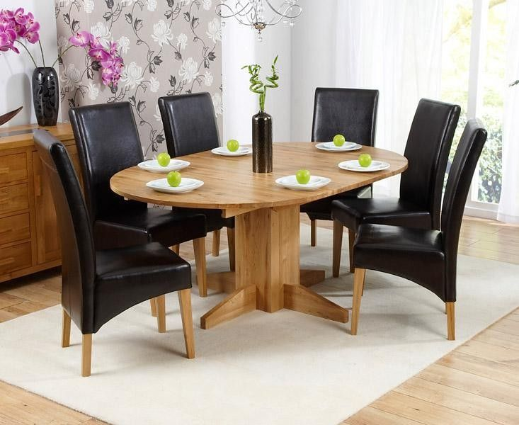 Monte Carlo 6 Seater Round Extending Dining Table With Roma Chairs Mesmerizing Round Dining Room Sets For 6 Inspiration Design