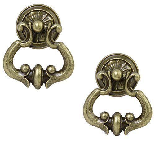 Set of 2 Bronzed Cabinet Handles Door Drawer Handles Furniture Knobs
