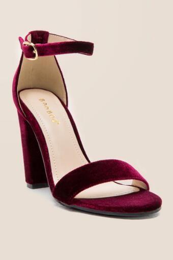 3c47b0e82c Stella Velvet Block Heel   Accessories   Velvet block heels, Block ...